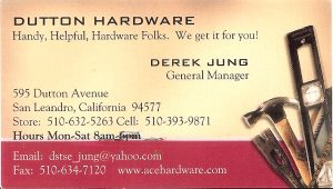 Business Card for Derek Jung