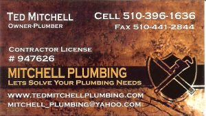 Business Card for Ted Mitchell