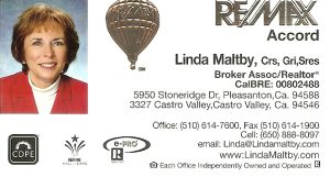 Business Card for Linda Maltby