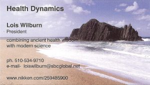 Business Card for Lois Wilburn