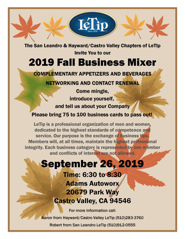 jpeg of official flyer for Fall Mixer